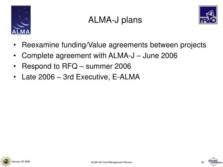 ALMA-J plans