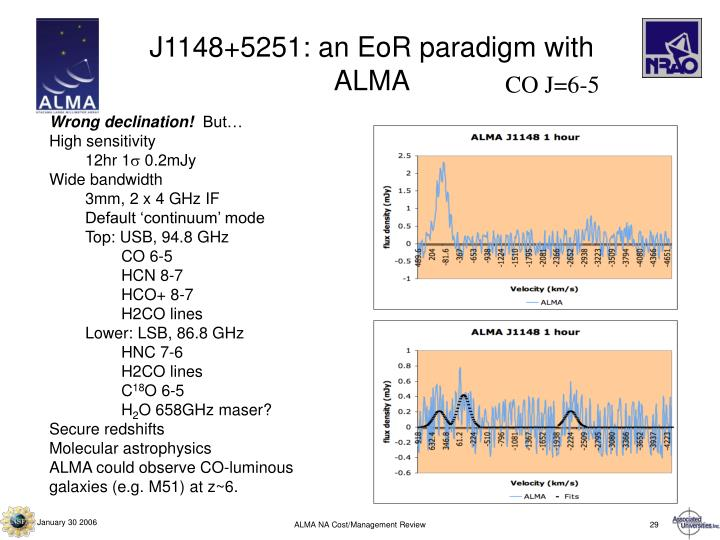 J1148+5251: an EoR paradigm with ALMA
