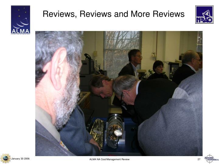 Reviews, Reviews and More Reviews
