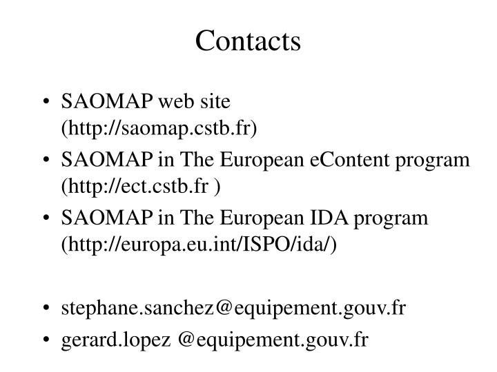 SAOMAP web site