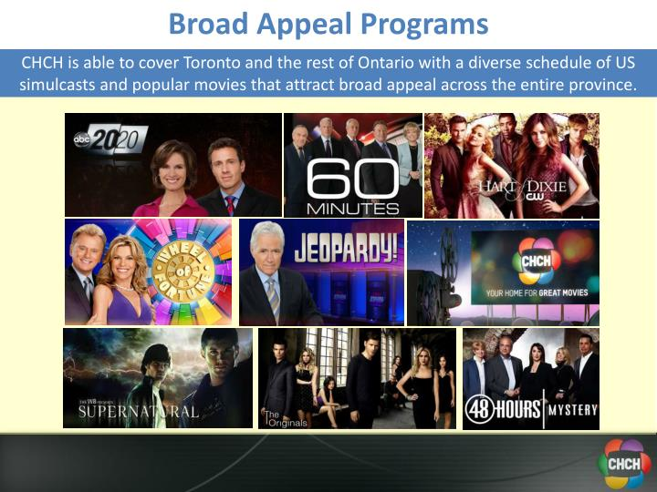 Broad Appeal Programs