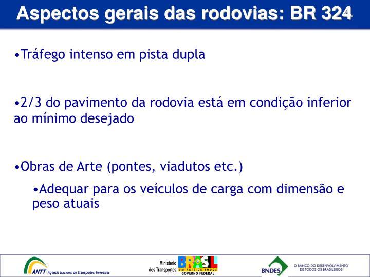 Aspectos gerais das rodovias: BR 324
