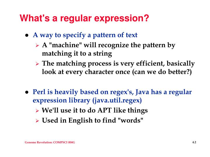 What's a regular expression?