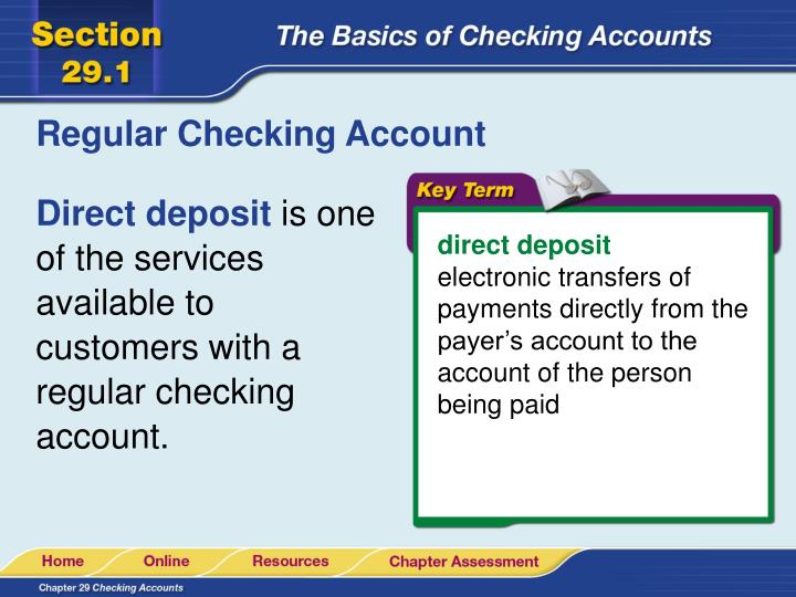 Regular Checking Account