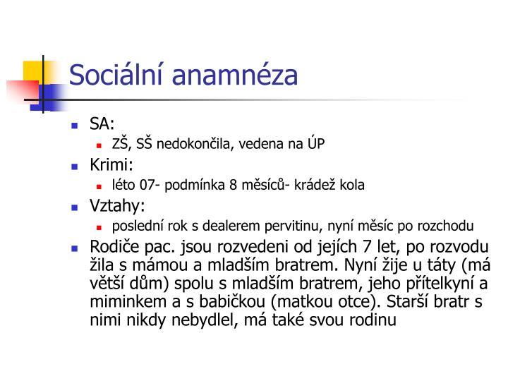 Sociální anamnéza