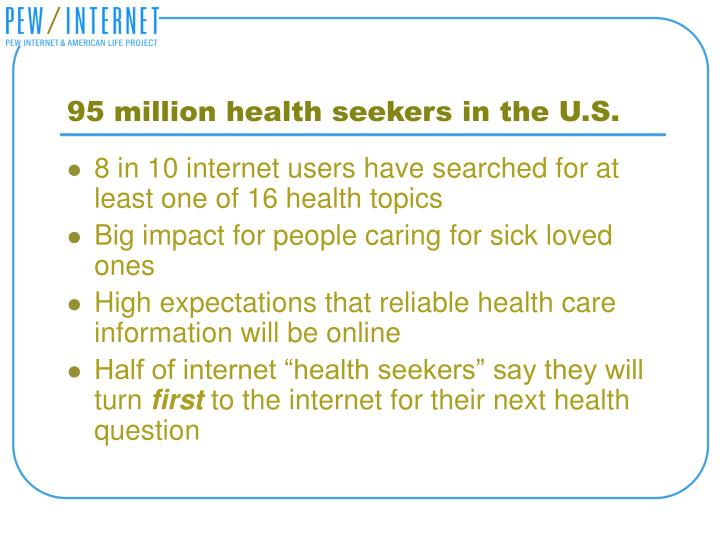 95 million health seekers in the U.S.