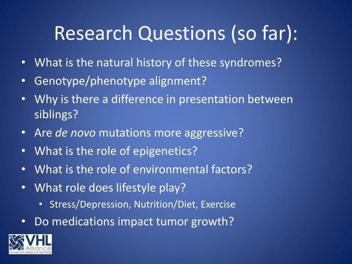 Research Questions (so far):