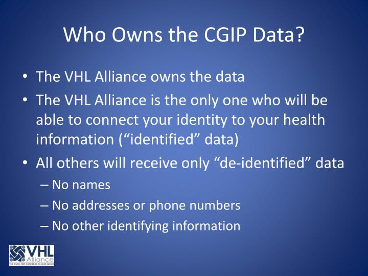 Who Owns the CGIP Data?