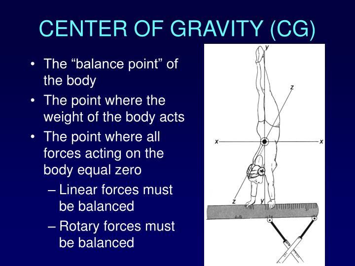 CENTER OF GRAVITY (CG)
