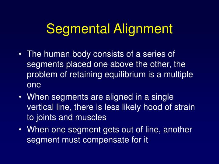 Segmental Alignment