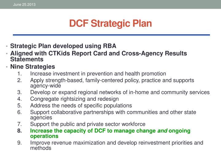 DCF Strategic Plan