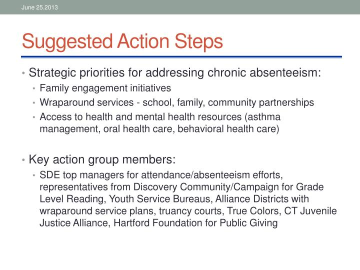 Suggested Action Steps