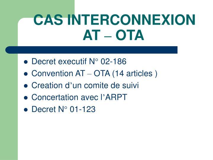 CAS INTERCONNEXION AT