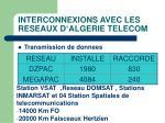 interconnexions avec les reseaux d algerie telecom1