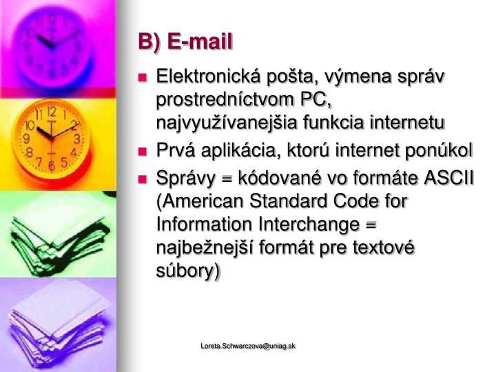 B) E-mail