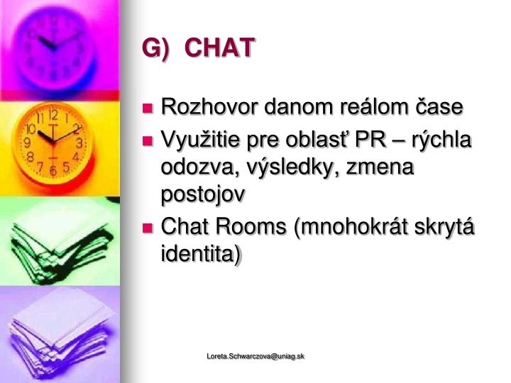 G)  CHAT
