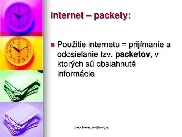 Internet – packety: