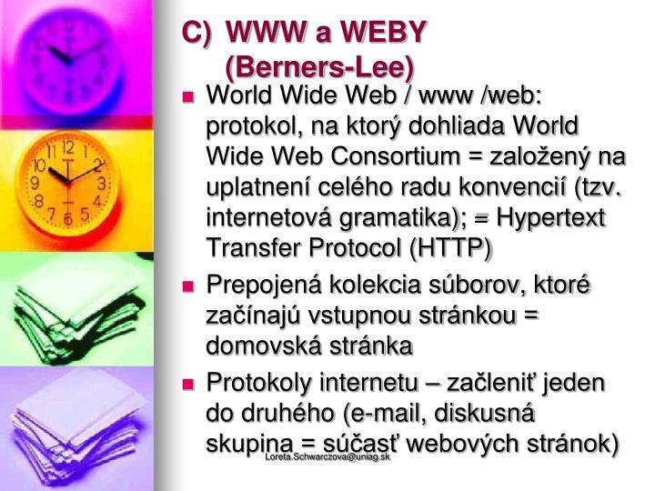 WWW a WEBY
