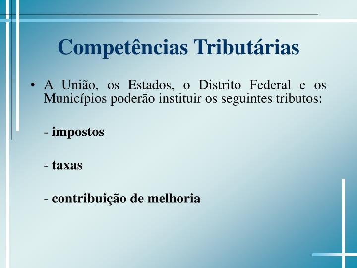 Competências Tributárias