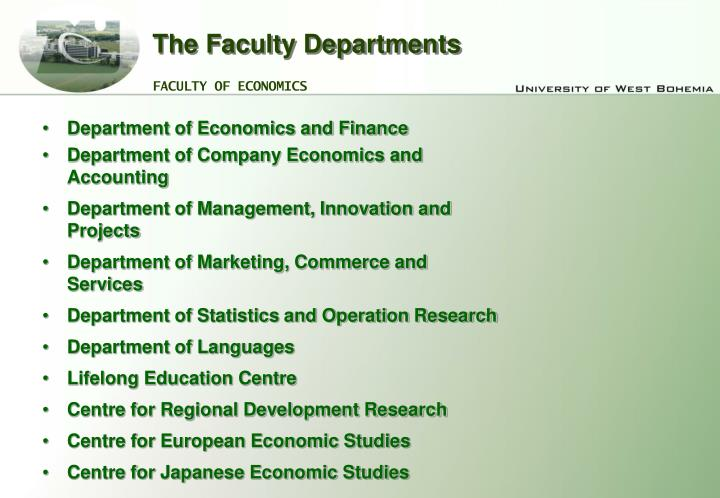 The Faculty Departments