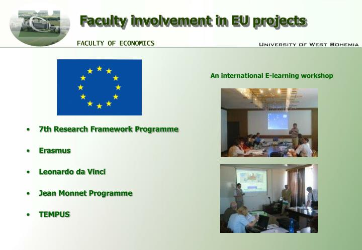 Faculty involvement in EU projects