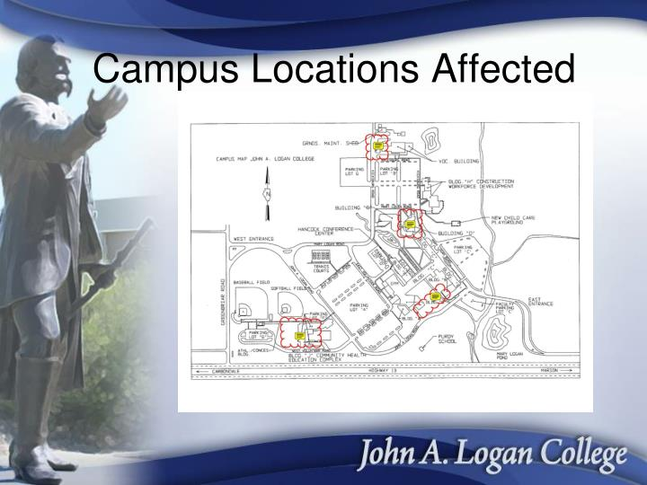 Campus Locations Affected