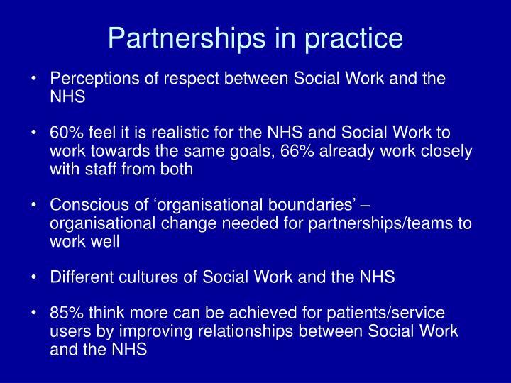 Partnerships in practice