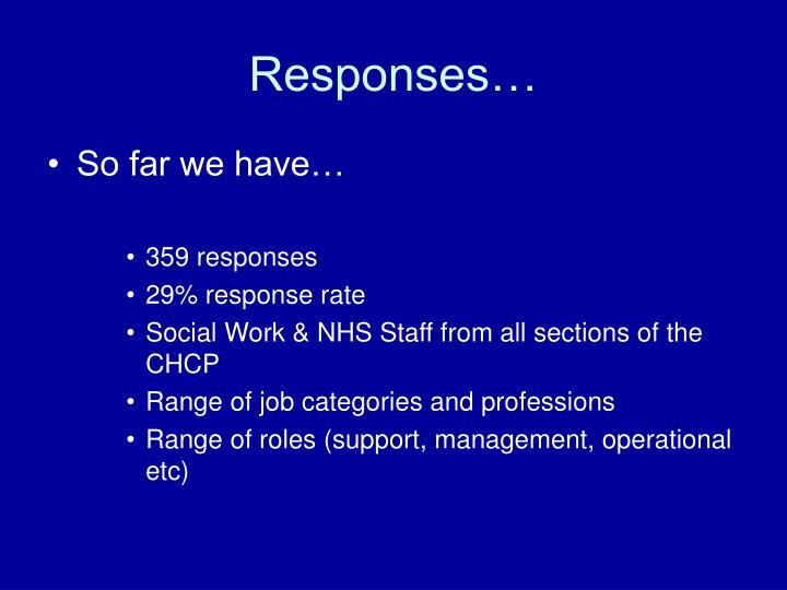 Responses…