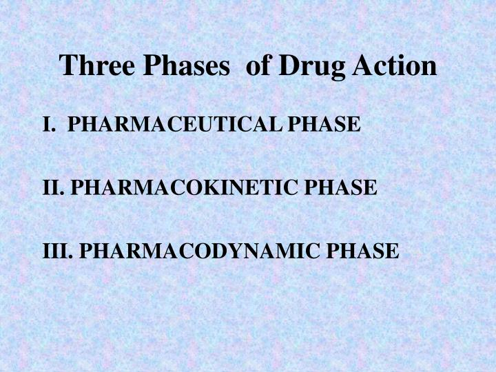 Three phases of drug action