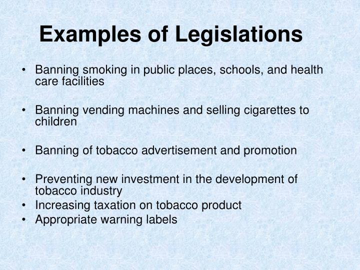 Examples of Legislations