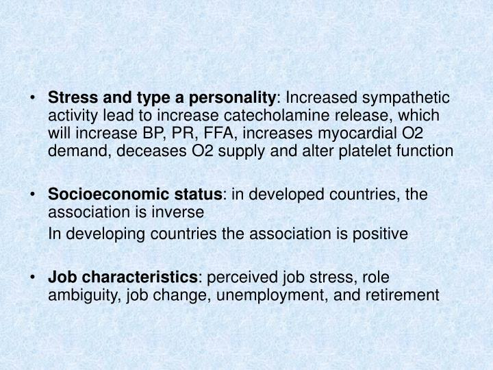 Stress and type a personality
