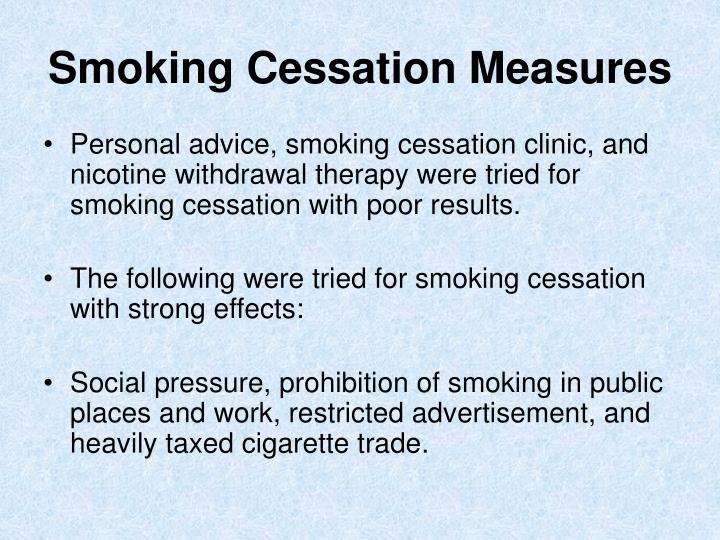 Smoking Cessation Measures