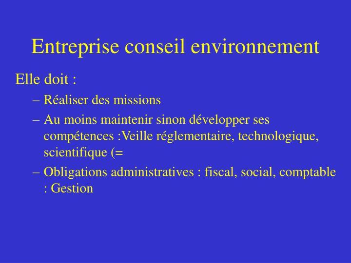 Entreprise conseil environnement