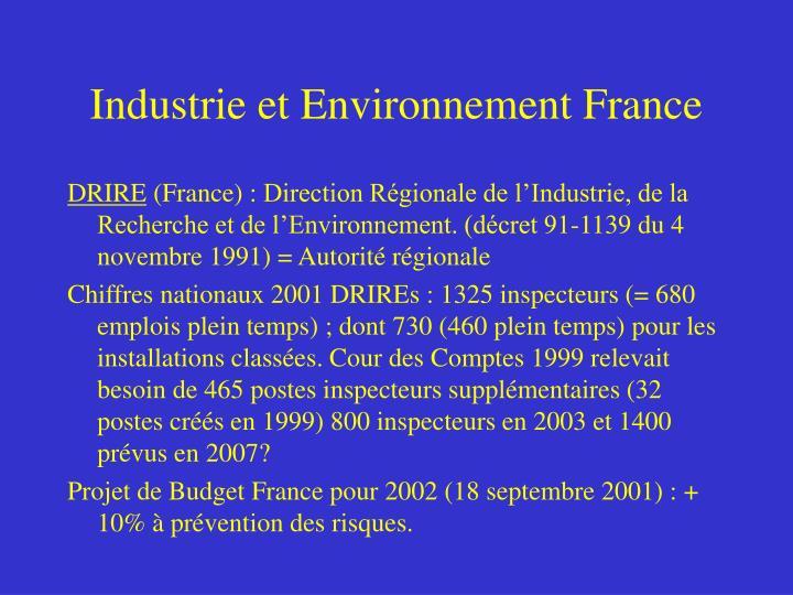 Industrie et Environnement France