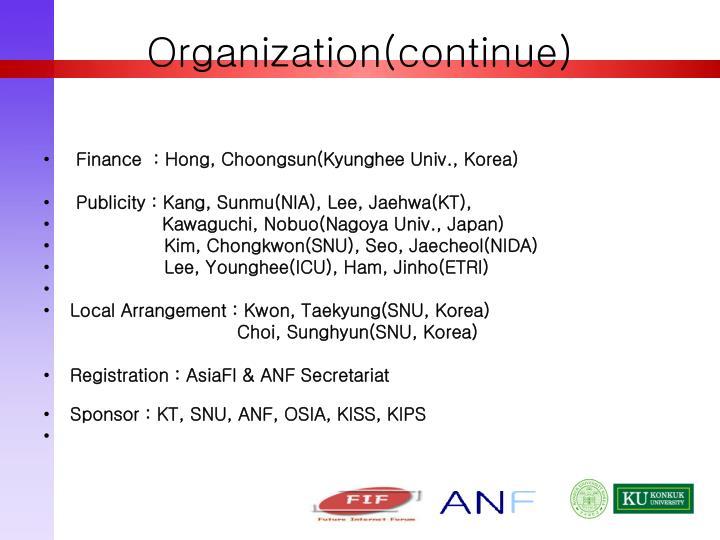 Organization(continue)