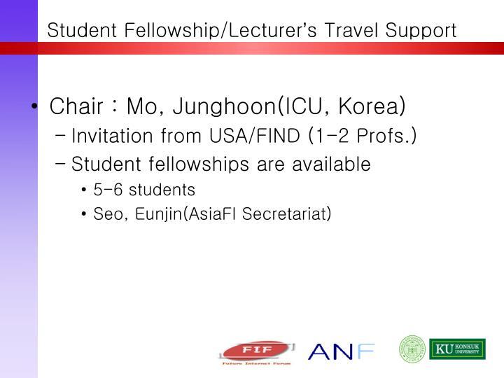 Student Fellowship/Lecturer