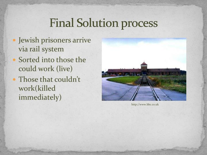 Final Solution process