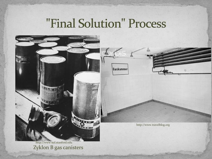 """Final Solution"" Process"