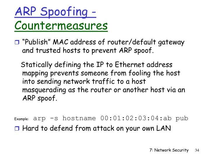 ARP Spoofing -