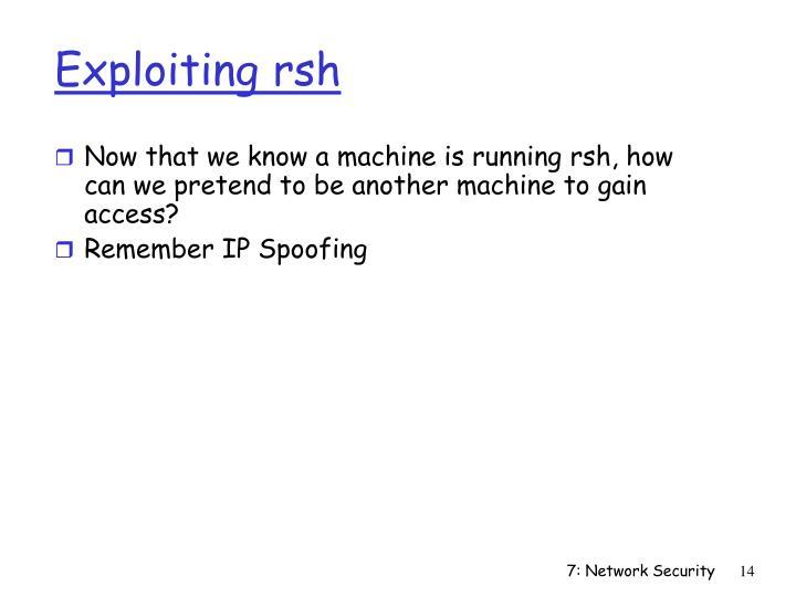 Exploiting rsh