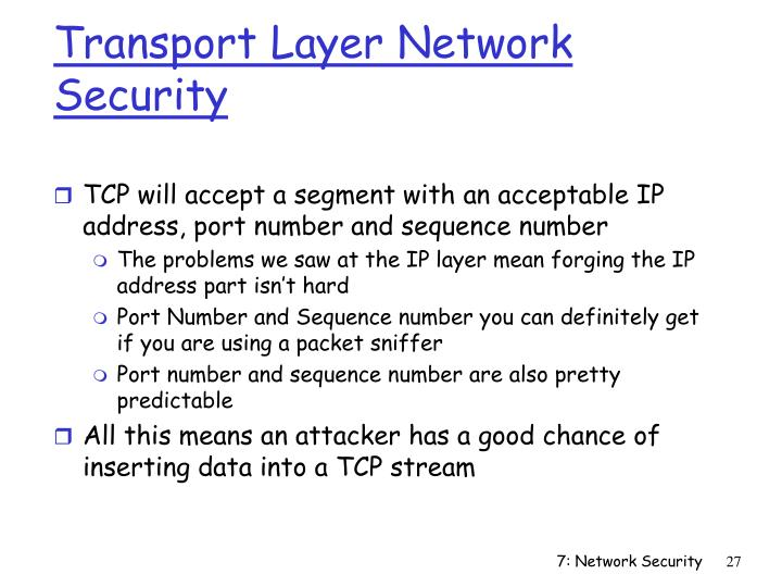 Transport Layer Network Security