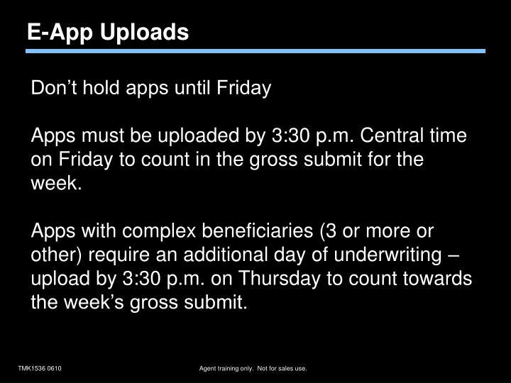 E-App Uploads