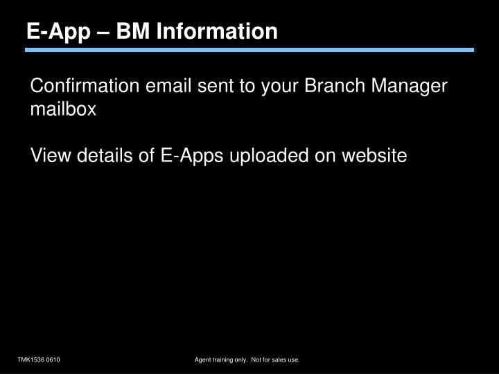 E-App – BM Information