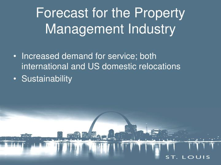 Forecast for the Property Management Industry