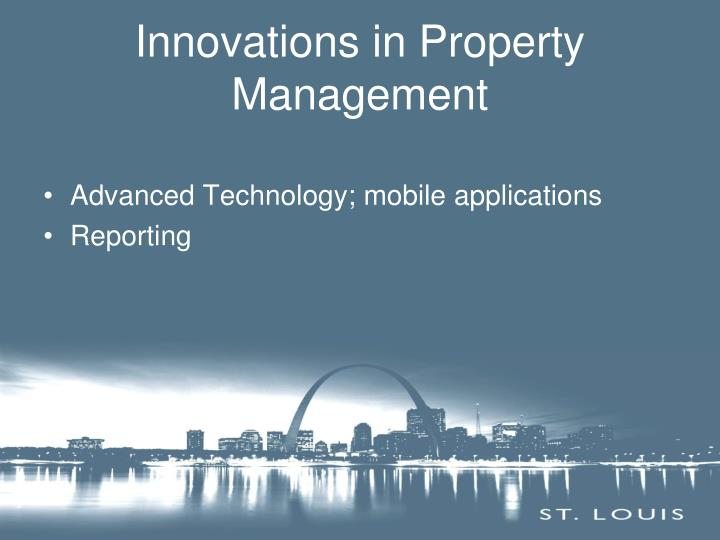 Innovations in Property Management