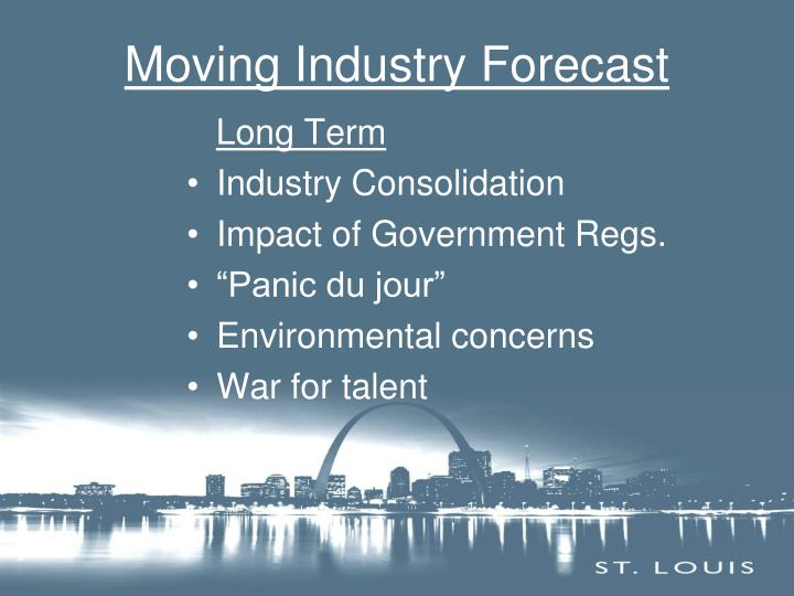 Moving Industry Forecast