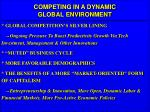 competing in a dynamic global environment