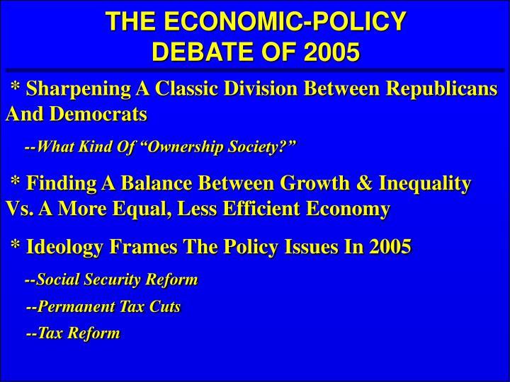 THE ECONOMIC-POLICY