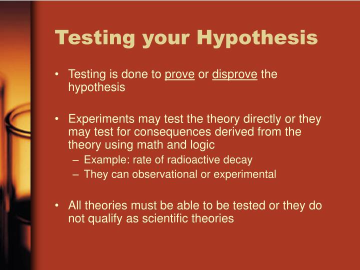 Testing your Hypothesis