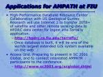 applications for ampath at fiu